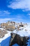 Panorama di Ani Ruins Winter (stagione 4) fotografia stock libera da diritti