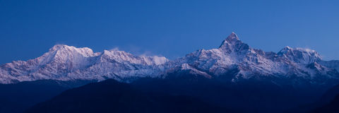 Panorama di Annapurna - Himalaya Immagini Stock