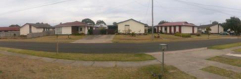 Panorama di area suburbana Immagini Stock Libere da Diritti