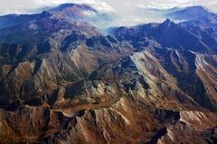 Panorama di Arial delle alpi europee in autunno Fotografia Stock Libera da Diritti