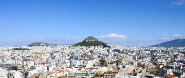 Panorama di Atene Fotografia Stock Libera da Diritti