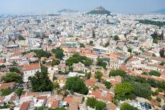 Panorama di Atene Fotografia Stock