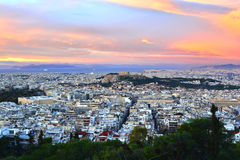 Panorama di Atene Immagine Stock Libera da Diritti