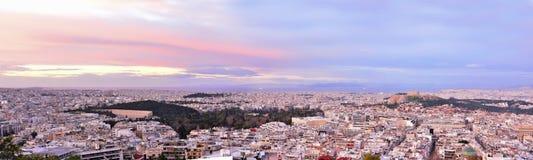 Panorama di Atene immagini stock libere da diritti