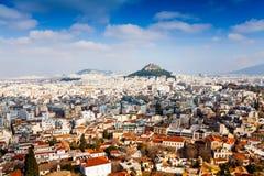 Panorama di Atene, Grecia Fotografia Stock
