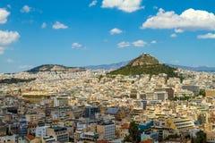 Panorama di Atene, Grecia fotografie stock