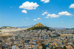 Panorama di Atene, Grecia fotografie stock libere da diritti