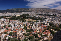 Panorama di Atene in Grecia Fotografia Stock Libera da Diritti