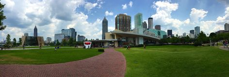 Panorama di Atlanta, Georgia Fotografia Stock Libera da Diritti