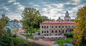 Panorama di autunno del castello medievale Immagine Stock