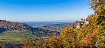 Panorama di autunno delle camice di Suabian Fotografia Stock