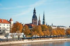 Panorama di autunno di Riga Fotografie Stock