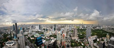 Panorama di Bangkok Fotografie Stock Libere da Diritti