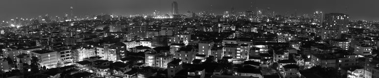 Panorama di Bangkok illustrazione di stock