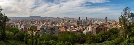 Panorama di Barcellona immagine stock libera da diritti