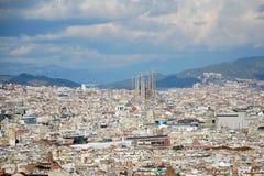 Panorama di Barcellona Fotografie Stock Libere da Diritti