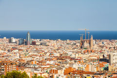 Panorama di Barcellona immagine stock