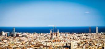 Panorama di Barcellona fotografia stock