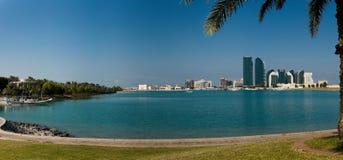 Panorama di Bateen di Al dell'Abu Dhabi Fotografia Stock Libera da Diritti