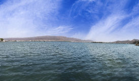 Panorama di bella Ana Sagar Lake in Ajmer, Ragiastan, India Fotografia Stock Libera da Diritti