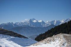 Panorama di belle montagne Fotografia Stock Libera da Diritti