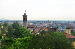 Panorama di Bergamo Fotografia Stock