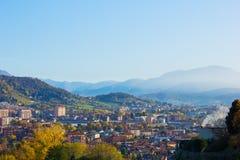 Panorama di Bergamo, Italia Fotografie Stock