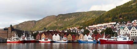 Panorama di Bergen Fotografia Stock Libera da Diritti