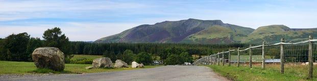 Panorama di Blencathra Fotografie Stock