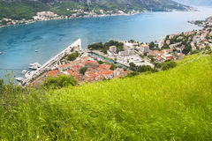 Panorama di Boka Kotorska Fotografia Stock Libera da Diritti