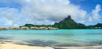 Panorama di Bora Bora Fotografie Stock Libere da Diritti