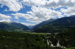 Panorama di Bormio - Valtellina -Italia Stock Photo