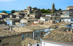 Panorama di Bovino, Immagini Stock