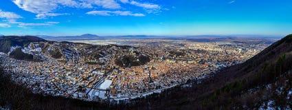 Panorama di Brasov Fotografia Stock Libera da Diritti