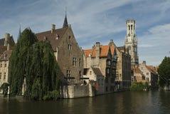 Panorama di Bruges Immagine Stock Libera da Diritti