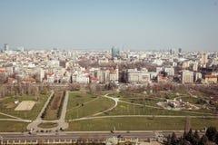Panorama di Bucarest Fotografia Stock Libera da Diritti