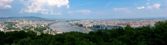 Panorama di Budapest Immagine Stock Libera da Diritti