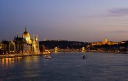 Panorama di Budapest Fotografie Stock Libere da Diritti