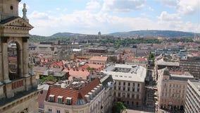 Panorama di Budapest la costruzione del Parlamento, Ungheria video d archivio