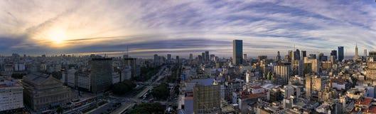 Panorama di Buenos Aires fotografie stock libere da diritti