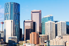 Panorama di Calgary Fotografia Stock