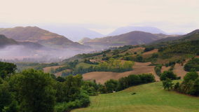 Panorama di campagna italiana. Views of the Italian countryside in the morning Royalty Free Stock Photo