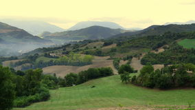 Panorama di campagna italiana. Views of the Italian countryside in the morning Royalty Free Stock Photography