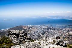 Panorama di Cape Town dalla montagna della Tabella Fotografia Stock Libera da Diritti