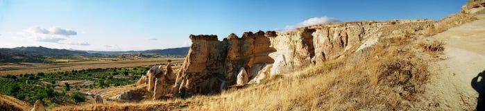 Panorama di Cappadocia Fotografie Stock Libere da Diritti