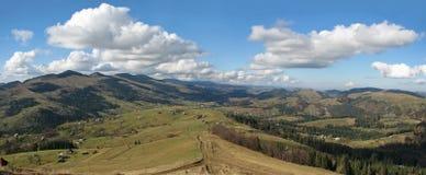 Panorama di Carpathianâs. Fotografie Stock Libere da Diritti