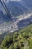 Panorama di Chamonix Fotografia Stock