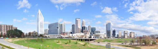 Panorama di Charlotte, North Carolina Fotografia Stock