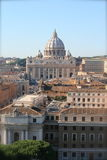 Panorama di Città del Vaticano Fotografia Stock