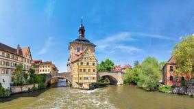 Panorama di Città Vecchia Corridoio di Bamberga, Germania Fotografia Stock Libera da Diritti